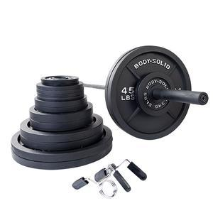 400 Pound Olympic Weight Plate Set with 7' Barbell