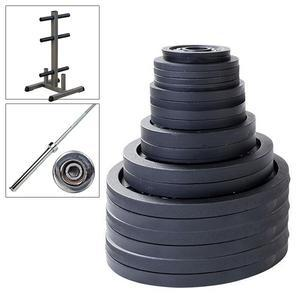 500lb. Olympic Weight Set with Olympic Bar and Weight Tree (OSB500KIT)