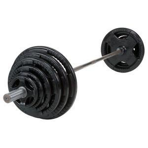 Olympic Rubber Grip Weight Plate Sets with Bar