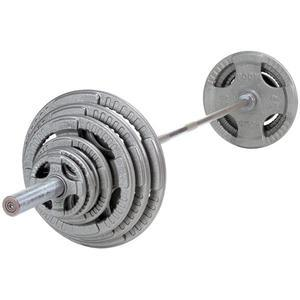 Olympic Steel Grip Weight Plate Sets with Bar