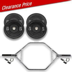 Trap Bar Package with 120lb. Bumper Plates (OTB50P120)