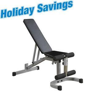 Powerline Adjustable Bench with Leg Hold (PFID130X)