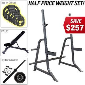 POWERLINE MULTI PRESS PACKAGE with Half Price Olympic Plate Set!