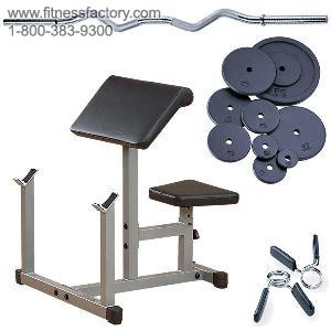 Powerline Preacher Curl Package