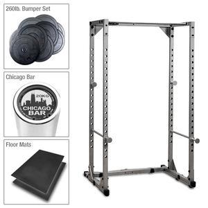 Powerline Extreme Garage Gym Power Rack Package