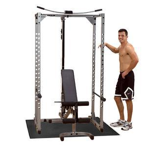 Powerline Power Rack PPR200X Package, Bench, Lat, Mat