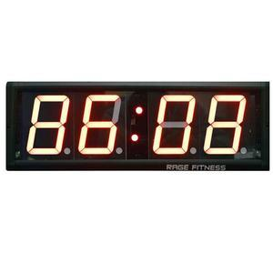 Rage Fitness Cross Timer Clock - 4 Digit