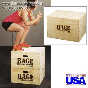 Rage Fitness Wood Cube Plyo Box