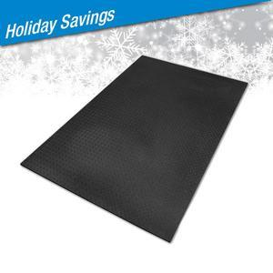 4x6 Foot High Density Rubber Floor Mat 3/8 Inch Thick