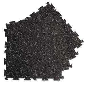 Interlocking Flooring 4 Pieces Black with Gray Speckle
