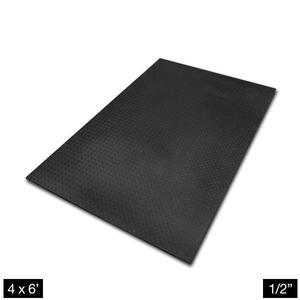 Heavy Duty 4' x 6' Rubber Flooring 1/2 inch Thick  (RF546)