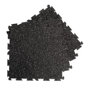 Body-Solid Tools Interlocking Rubber Flooring Gray Speck
