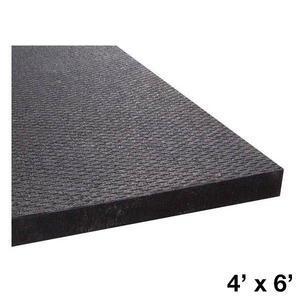 Rubber Flooring Mat, 4' x 6'