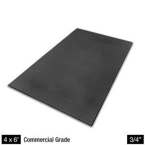 Heaviest Duty 4' x 6' Rubber Floor Mat 3/4 Inch Thick