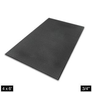 Heavy Duty 4' x 6' Rubber Flooring 3/4 inch Thick (RFHU463/4ECO)
