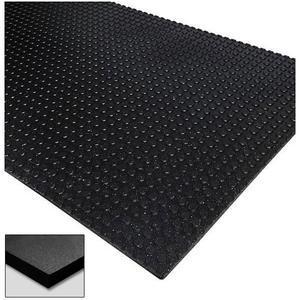 Max Button-Flat 4' x 6' Rubber Stall Mat 3/4