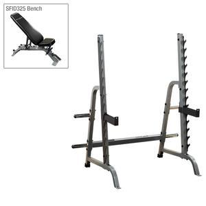 Body-Solid Olympic Press System with Bench
