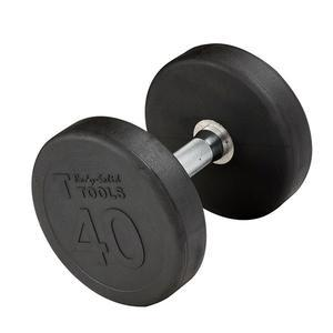 Premium Round Rubber Dumbbells 5 to 100 Pounds (SDP)
