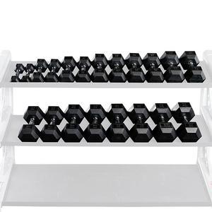 RUGGED 5-50 lb. Rubber Dumbbell Set (SDQS550)