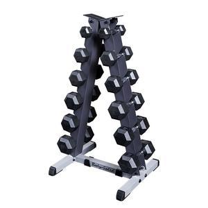 Rubber Dumbbell Package with Rack