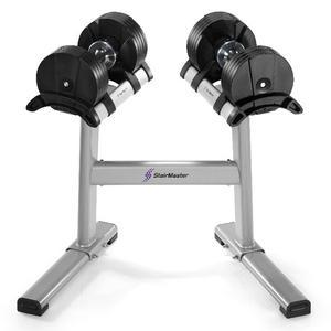 Stairmaster TwistLock Dumbbells with Stand