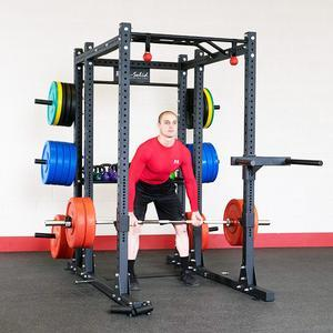 Body-Solid SPR1000 Commercial Power Rack Gym Package (SPR1000BACKP4)