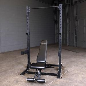 Body-Solid SPR500 Commercial Half Rack with SFID425 Adjustable Bench
