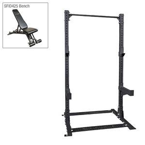 Body-Solid Commercial Half Rack with Adjustable Bench