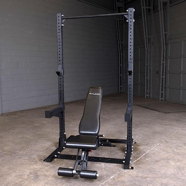Space Saving Squat Stand Weight Training Body-Solid SPR500 Commercial Half Rack
