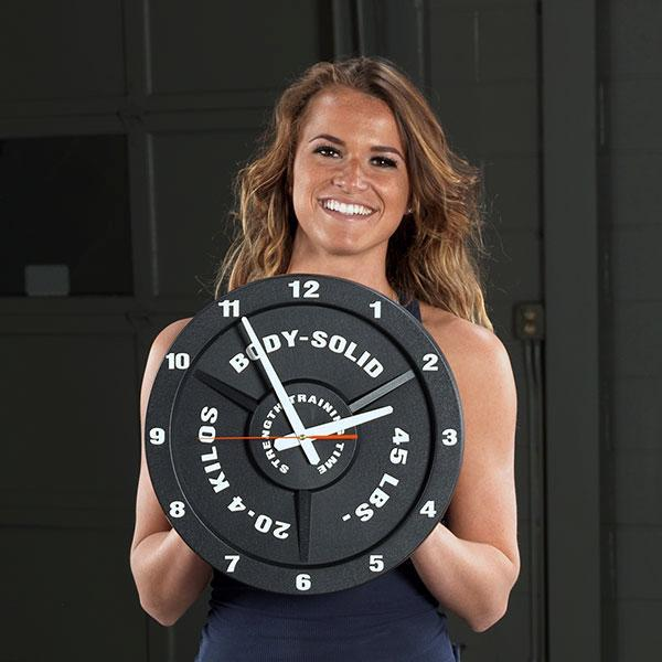 Body solid weight plate wall clock