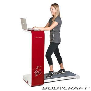 BodyCraft SpaceWalker Compact Treadmill Workstation, Red