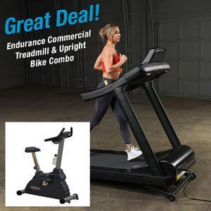 Endurance Cardio Combo T150 Treadmill with B2.5U Upright Bike