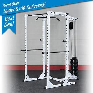 Body-Solid WPR78 Power Rack with Lat Attachment