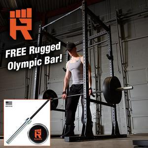 Rugged Power Rack with FREE Rugged Olympic Bar