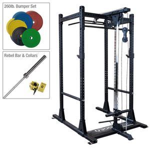 Rugged Warrior Power Rack Package