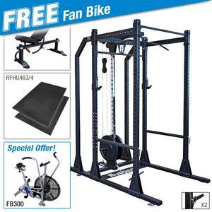 Rugged POWER RACK Package with FREE FB300 Dual Action Fan Bike