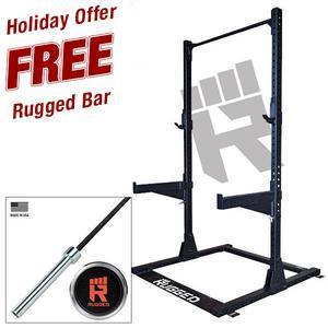Rugged Half Rack with FREE Rugged Olympic Bar