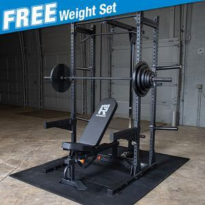 Rugged HALF RACK Package with FREE 300lb. Weight Set (Y120P8)