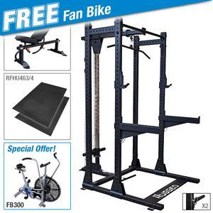 Rugged HALF RACK Package with FREE FB300 Dual Action Fan Bike