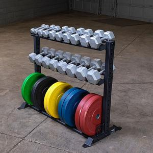 Rugged Combination Weight Plate Dumbbell Rack