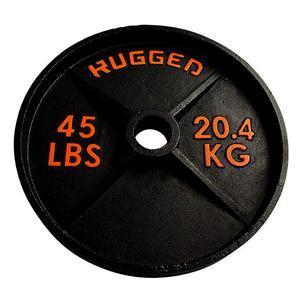 45 lb. Rugged Deep Dish Olympic Plate