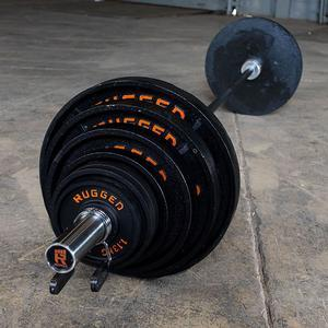 300 lb. Rugged Deep Dish Olympic Plate Set with Bar (YODDS300)