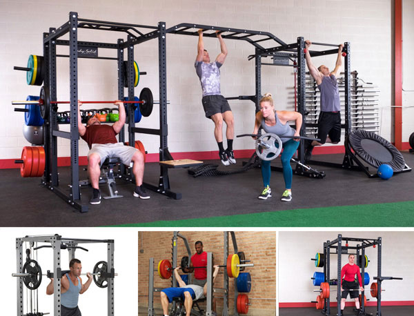 Power Racks, Power Cages, Squat Cages and Rigs for Strength and Free weight Training