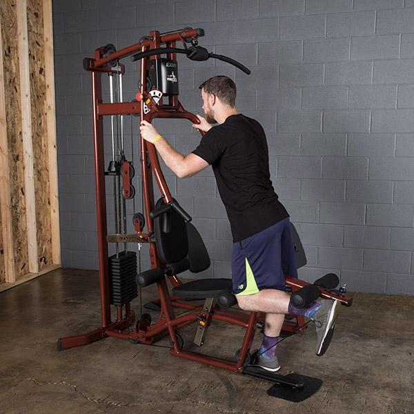 Exm fitness factory home gym with leg press