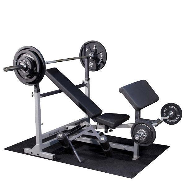 Free Weights On Bench: Body-Solid PowerCenter Package