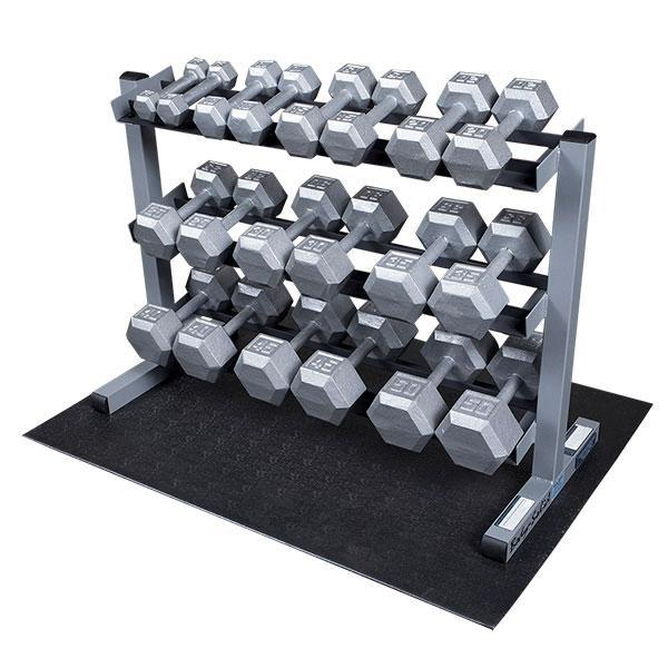 5-50lb. Hex Dumbbell Package with Rack