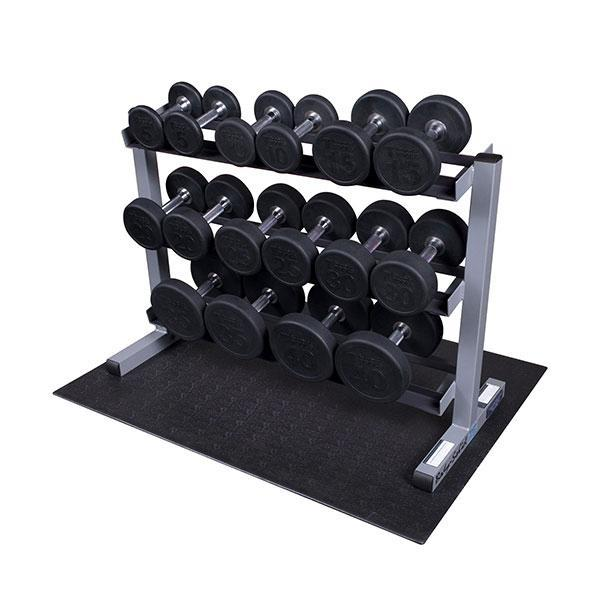 Round Dumbbell Package with Rack