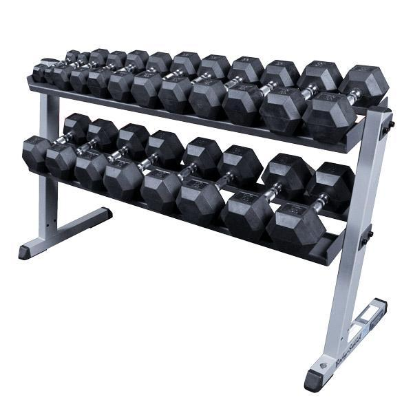 body solid heavy duty dumbbell weight rack. Black Bedroom Furniture Sets. Home Design Ideas