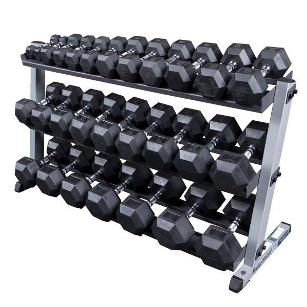 Dumbbell Set And Rack For Sale: Body-Solid GDR60 Dumbbell Rack With 3rd Tier