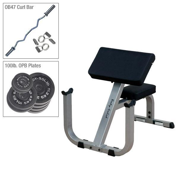 Body-Solid GPCB329 Preacher Curl Pacakage
